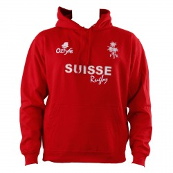 Sweat a capuche Suisse Rugby unisexe
