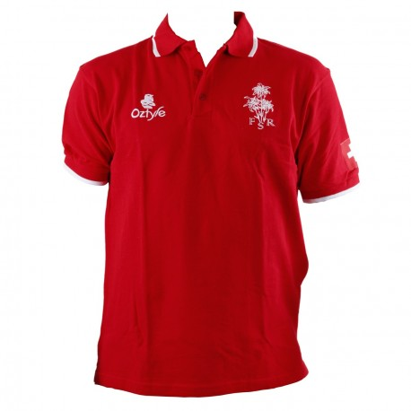 Polo rouge Suisse Rugby - 40% DISCOUNT