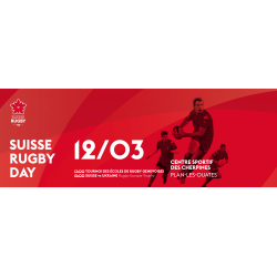 ticket de match - SUISSE UKRAINE, 12.03.2017 - SUISSE RUGBY DAY, Plan-les-Ouates