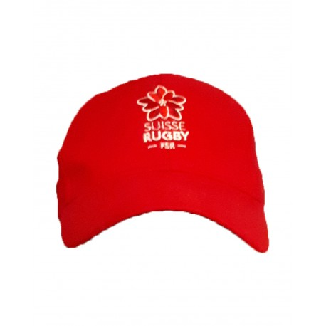 Casquette rouge Suisse Rugby Adulte