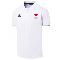 Suisserugby white polo shirt