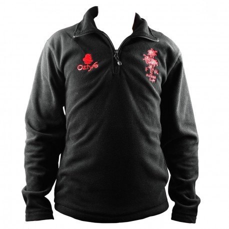 Sweat polaire noir Suisse Rugby - 40% DISCOUNT